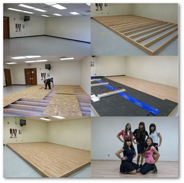 New dance floor donated by RNB Flooring