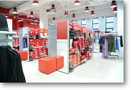 Retail flooring expertly installed by RNB Flooring