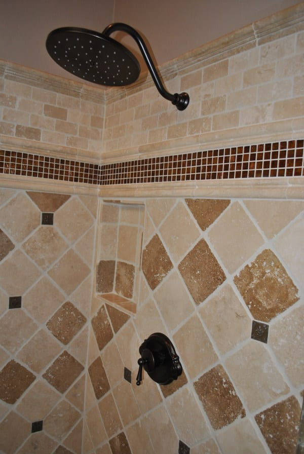 Tile shower detail