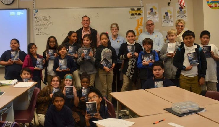RNB Flooring helps give dictionaries to deserving 5th graders