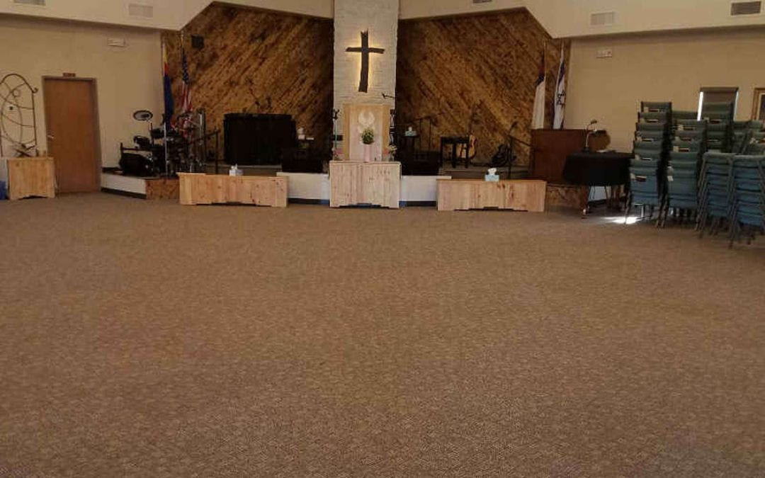 Commercial Carpet Tile Gives New Look to Church Floor