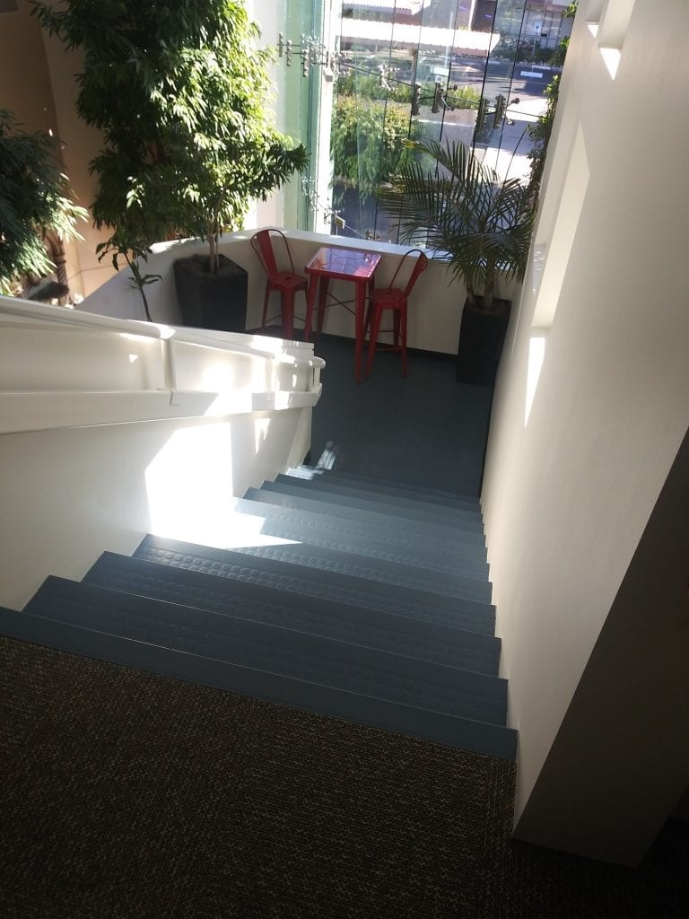 Stairs that get heavy use are great candidates for rubber stair treads.