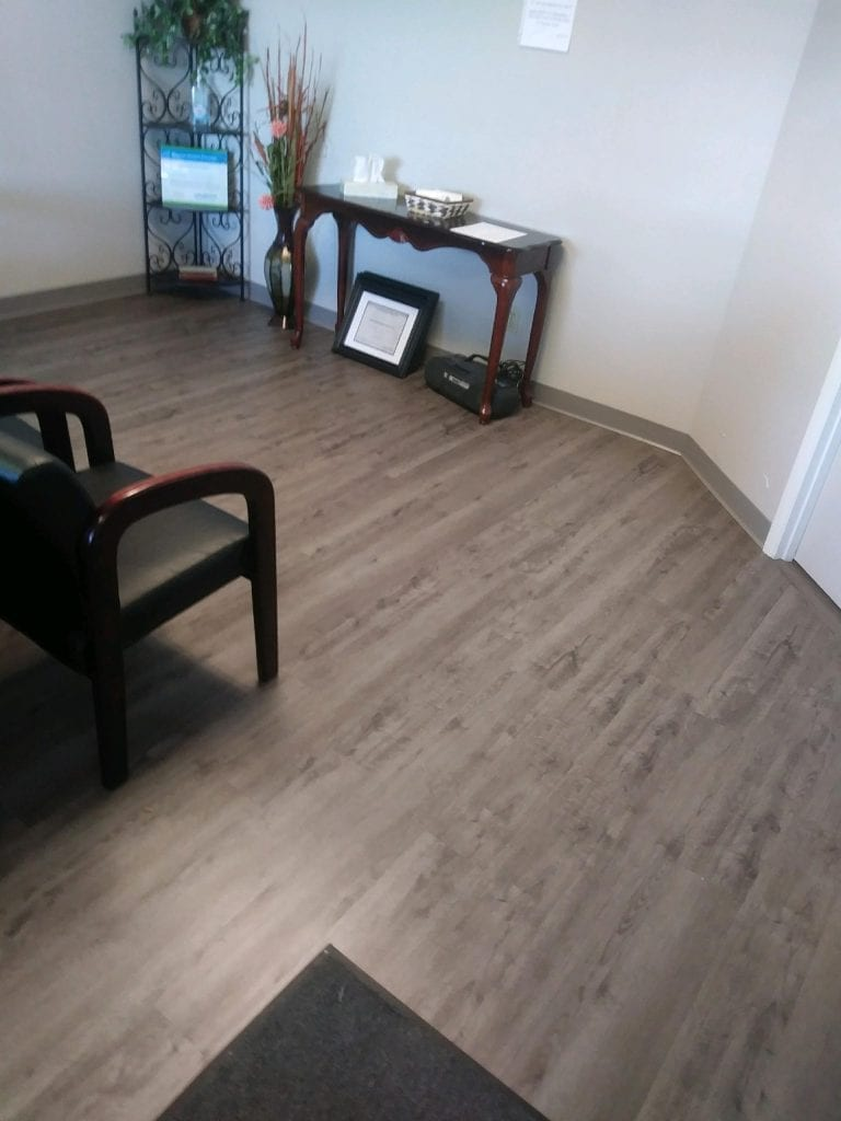 Another professional installation of office flooring by RNB Flooring.